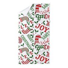 merry christmas joy Beach Towel