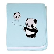 Panda With Balloon baby blanket