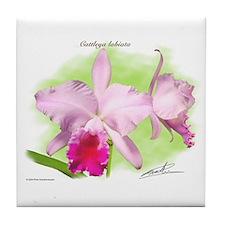 Cattleya Tile Coaster