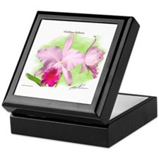 Unique Cattleya Keepsake Box