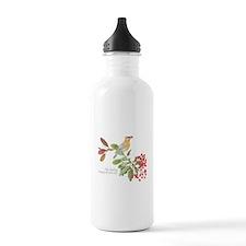 Cedar Waxwing and berries Water Bottle