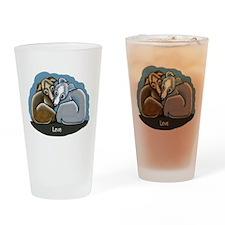 Italian Greyhound Huddle Drinking Glass