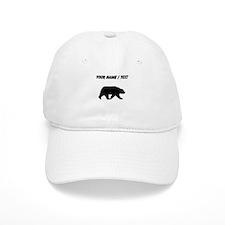 Custom Bear Walking Silhouette Baseball Baseball Cap