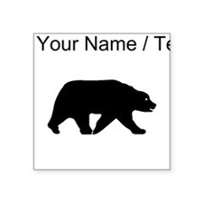 Custom Bear Walking Silhouette Sticker