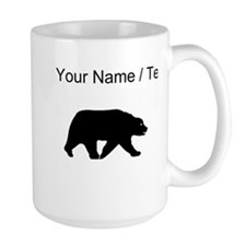 Custom Bear Walking Silhouette Mugs