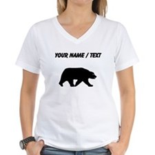 Custom Bear Walking Silhouette T-Shirt