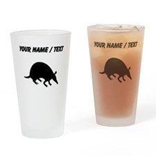 Custom Armadillo Silhouette Drinking Glass