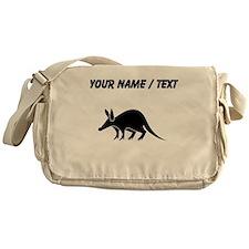 Custom Aardvark Silhouette Messenger Bag