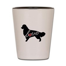 Golden Retriever Love Shot Glass