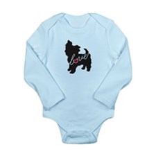 Yorkie Love Long Sleeve Infant Bodysuit