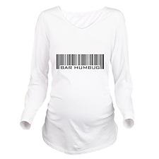 Bar Humbug Christmas Long Sleeve Maternity T-Shirt