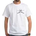 Master Flute Skull White T-Shirt