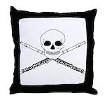 Master Flute Skull Throw Pillow