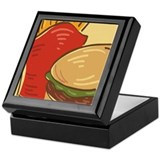 Hamburger and Fries Keepsake Box
