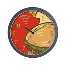 Hamburger and Fries Wall Clock