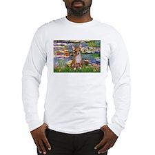Monet's Lilies 2 & Chihuahua Long Sleeve T-Shirt