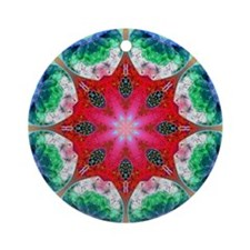 KALEIDOSCOPE 7 Ornament (Round)