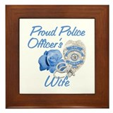 Blue Rose Police Wife Framed Tile