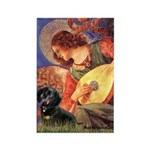 Mandolin Angel & Doxie (BT) Rectangle Magnet (10 p