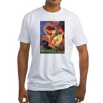 Mandolin Angel & Doxie (BT) Fitted T-Shirt