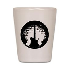 Black Guitar Silhouette.png Shot Glass