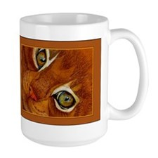 Cat Eyes Ginger Cat Portrait Mug