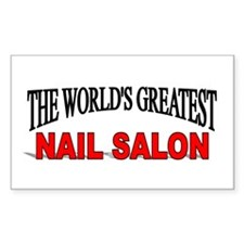 """The World's Greatest Nail Salon"" Decal"