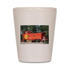 Santa Fe Railway Train Caboose, William Shot Glass