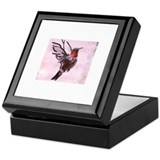 Hummingbird Calligraphy Keepsake Box