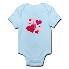 Hearts In Clouds Body Suit