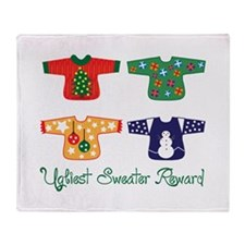 Ugliest Sweater Throw Blanket