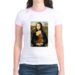 Mona's Dachshund Jr. Ringer T-Shirt