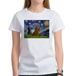 Starry / Dachshund Women's T-Shirt