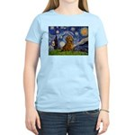 Starry / Dachshund Women's Light T-Shirt