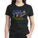 Starry / Dachshund Women's Dark T-Shirt