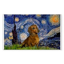 Starry / Dachshund Decal