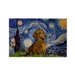 Starry / Dachshund Rectangle Magnet (10 pack)