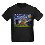 Starry / Dachshund Kids Dark T-Shirt