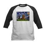 Starry / Dachshund Kids Baseball Jersey