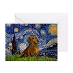 Starry / Dachshund Greeting Cards (Pk of 10)