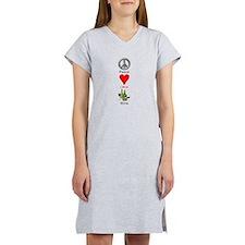 Peace Love Wine Women's Nightshirt