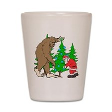 Bigfoot, Santa Christmas Shot Glass