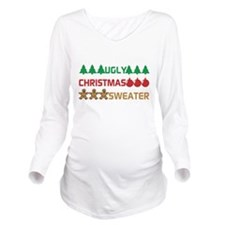 Ugly Christmas Sweater Long Sleeve Maternity T-Shi