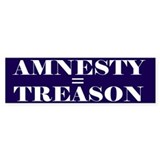 Amnesty Is Treason Bumper Bumper Stickers