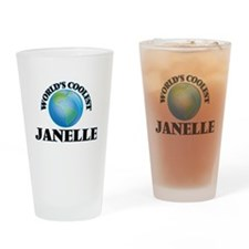 World's Coolest Janelle Drinking Glass