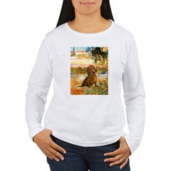 Garden (VG) & Dachshund Women's Long Sleeve T-Shir