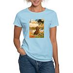 Garden (VG) & Dachshund Women's Light T-Shirt