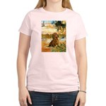 Garden (VG) & Dachshund Women's Light T-Shirt