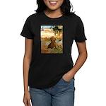 Garden (VG) & Dachshund Women's Dark T-Shirt