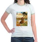 Garden (VG) & Dachshund Jr. Ringer T-Shirt